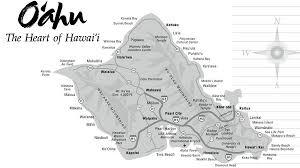 map of hawaii cities oahu hawaii tourist map oahu mappery