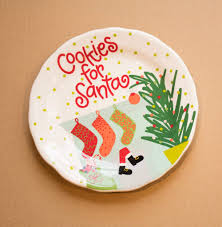 cookies for santa plate store coton colors cookies for santa plate