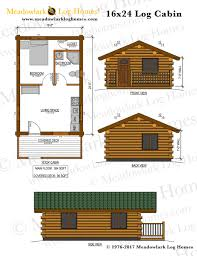 plans for cabins 16x24 log cabin meadowlark log homes