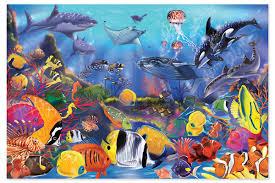 amazon com melissa u0026 doug underwater ocean floor puzzle 48 pcs