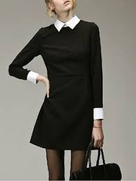 black blouse with white collar black dress with white collar search fashion