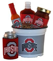 grilling gift basket ohio state gift basket osu buckeye tailgating grilling gift basket