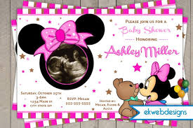pink minnie mouse baby shower invitations minnie mouse baby