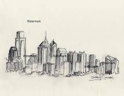 philadelphia skyline charcoal drawing 797 u2013 condren galleries ltd