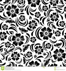 vintage black seamless vintage black floral pattern vector illustration