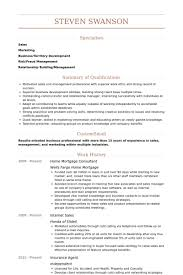 Management Consulting Resume Examples by Mortgage Consultant Resume Samples Visualcv Resume Samples Database