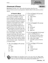 collection of solutions teaching context clues 3rd grade