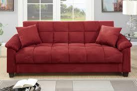poundex f7890 red microfiber storage futon sofa bed