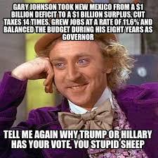 Gary Johnson Memes - meme creator gary johnson took new mexico from a 1 billion