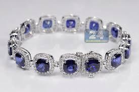 gold sapphire bracelet images Womens diamond blue sapphire bracelet 18k gold 29 08 ct 7 inches jpg