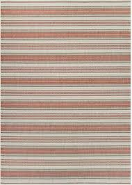 Couristan Outdoor Rugs Outdoor Rug Monaco Marbella In Coral Ivory Pewter