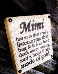 Meme Grandmother Gifts - mema burlap wood block sign choose your endearing name nana mimi