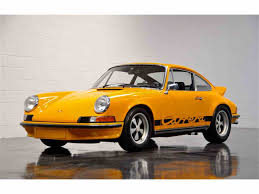 porsche signal yellow 1973 porsche 911 rs sunroof coupe for sale classiccars com cc