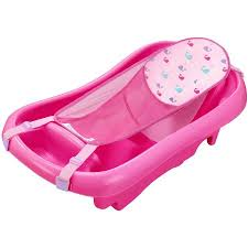 Pink Bathtub The First Years Sure Comfort Deluxe Newborn To Toddler Tub Pink