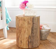 tree stump accent table stump side table pottery barn kids