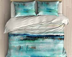 modern bedding set blue turquoise purple pink duvet cover