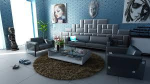 Wohnzimmer Farbe Blau Zimmerfarbe Grau 10 Ideen Mit Fotos
