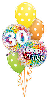 30th birthday balloon bouquets 30th birthday funky balloons melbourne vic helium balloon