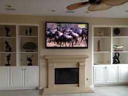 furniture surprising design of mounting a tv over a fireplace