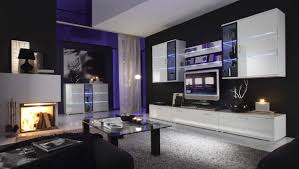 Meuble Salon Noir Et Blanc by Meuble Tv Led Noir Pas Cher Meuble Tv Vigo Blanc Meilleure