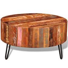 reclaimed wood round coffee table reclaimed wood coffee table ebay