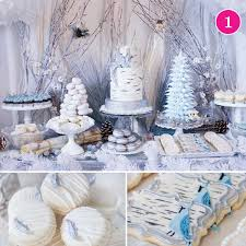 winter party ideas christmas wedding dessert table and winter