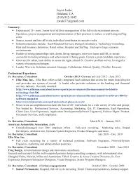 Recruiter Sample Resume by Joyce Iwaki Resume Sr Recruiter 1
