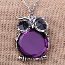 purple stone necklace images Purple stone owl pendant necklace be my owlie jpeg