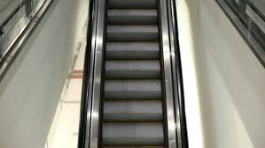 empty moving escalator mechanic electric stair stock footage