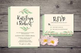 nature wedding invitation suite by iamw design bundles