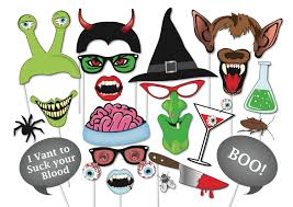 halloween photo booth props set 37 piece printable witch