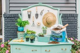 transform a dresser into a potting bench hgtv