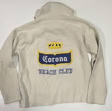 corona beer beach club pullover hoodie xl sweatshirt 158 drug