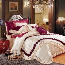 Royal Bedding Sets European Luxury Royal Bedding Set King Size White Wedding