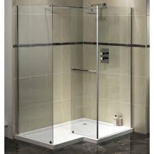 Bathroom Glass Shower Ideas by Elegant Corner Bathroom With Glass Shower Enclosure And Completed