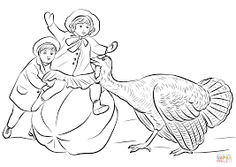 vintage thanksgiving coloring page free printable coloring pages