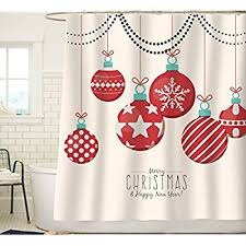 Snowflake Curtains Christmas Amazon Com Custom Home Decor Christmas Decoration Background