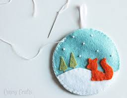 deer and fox felt ornaments cutesy crafts
