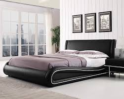 Double Faux Leather Bed Frame by Roma Italian Designer Bed Frame 4ft6 Double U0026 5ft King King