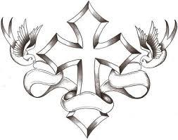 drawings of crosses with wings free best drawings of
