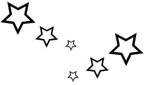 hollow star pack sticker x 6 shooting stars car graphics ebay