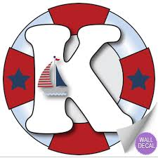 wall letter alphabet initial sticker vinyl stickers decals name click to view k