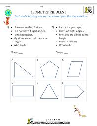 geometry worksheets for 5th grade worksheets