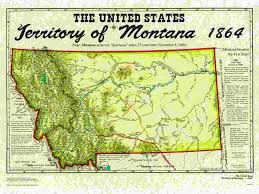 Map Of Montana by United States Territories
