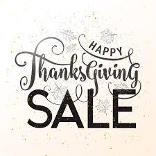 vector illustration of happy thanksgiving sale graphic design stock