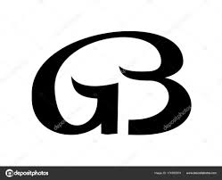 monogram letter b monogram from linked letters g and b vector logo stock vector