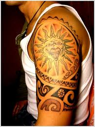 tribal sun designs for on sleeve sun tattoos designs