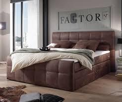 Schlafzimmer Bett Auf Raten Boxspringbett Amarillo 180x200 Cm Braun Mit Topper Möbel Betten