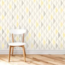 geometric stencil pattern symmetry for wall decor accent wall