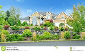 washington state house beautiful house with landscape in washington state stock image